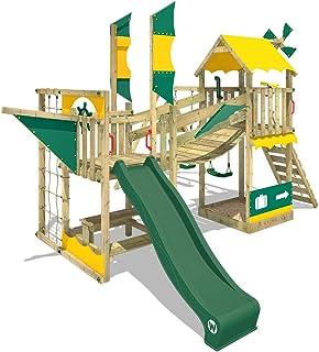 Parque infantil WICKEY Smart Cruiser Parque de juegos de madera con tobogán y columpio