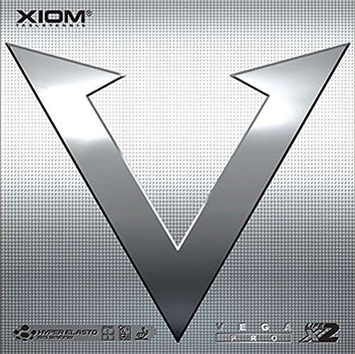 XIOM Vega Pro - Goma para tenis de mesa (máx, negro)