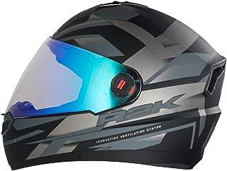 Steelbird R2K Night Vision Helmet Matt Finish with Day Night Dual Action Visor (Large 600 MM, Matt Black/Grey)