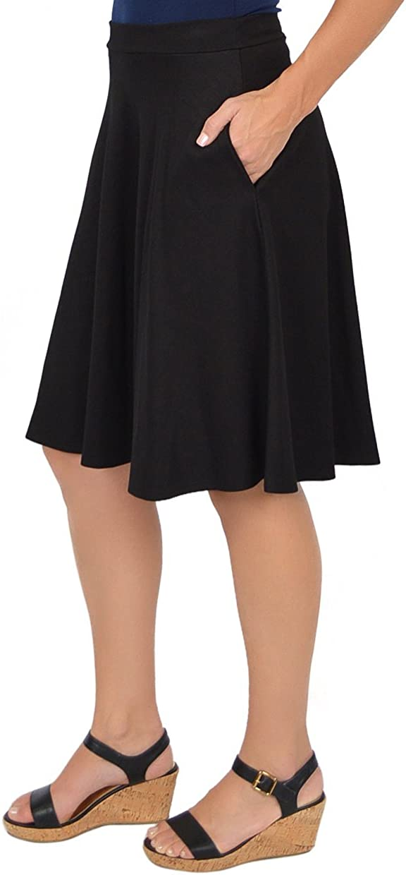 Stretch is Comfort Women's Circle Skirt with Pockets
