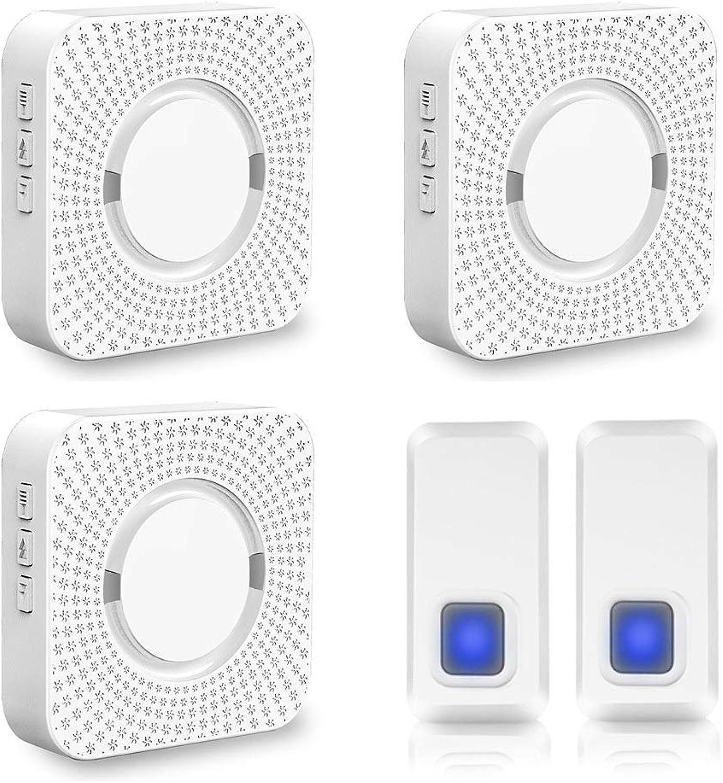LINANNAV Smart home doorbell waterproof music electronic wireless doorbell two to three wireless doorbell welcome doorbell smart
