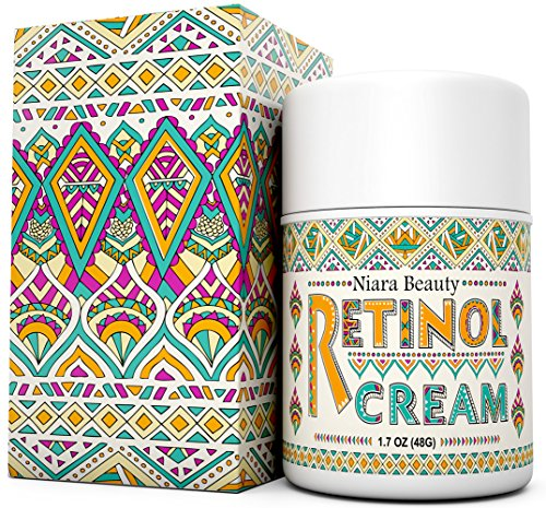 Retinol Cream Moisturizer for Face & Eyes - Anti Aging, Wrinkles, Fine Lines, Acne, Scars, Even Skin Tone - Best Natural & Organic Hyaluronic Acid, Green Tea, Vitamin E - Use Night & Day - 1.7 OZ