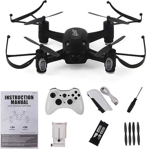 ventas en linea HONZIRY L8HW Mini Selfie RC Quadcopter Quadcopter Quadcopter Drone con WiFi FPV Drone 720P Altitud de cámara Mantener Modo sin Cabeza 360 ° Flips Dos baterías RTF, negro  Precio por piso
