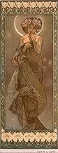 France - The Stars - Clair de Lune - (artist: Mucha, Alphonse c. 1902) - Vintage Advertisement (12x18 Art Print, Wall Decor Travel Poster)