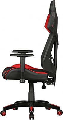 GamePad - Gaming cuero sintético Presidente / malla en color negro / rojo | silla de