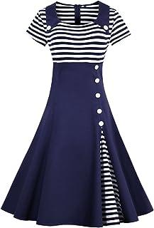 فستان البحار بأشرطة على شكل حرف A من Wellwits للنساء