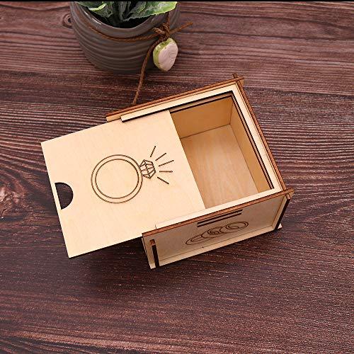 Joyero cajita madera anillos - detalles y regalos para bodas, bautizo y...