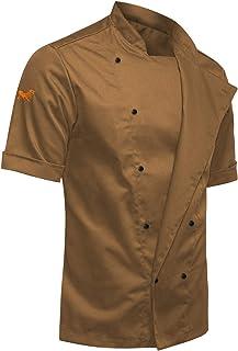 strongAnt® - Chaqueta de Chef para Hombrecon botones de bola, easyClean, Fácil de planchar, Repelente de suciedad, con Man...