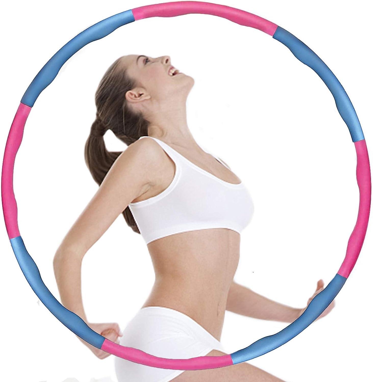 Aenamer Hula Hoop Reifen Anf/änger 8 Abnehmbare Abschnitte Hoola Hoop f/ür Erwachsene Kinder zur Massage Fitness Sport 1kg