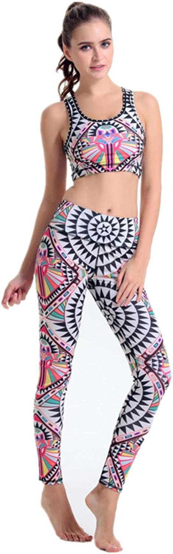 TUONFC Women Jogging Breathable Quick Dry Sleeveless Top Bra + Pant Yoga Set