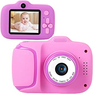 Anjetan Children Video Camera Interactive Music Fun 32GB Photo Camera with Lanyard USB Cable Kids Digital Cameras Children...