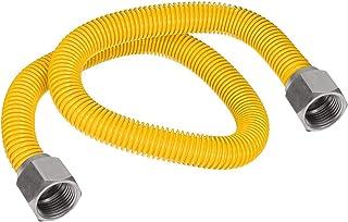 Flextron FTGC-YC38-48 116 cm elastyczne złącze przewodu gazowego pokryte epoksydową z średnicą zewnętrzną 1/2 cala i złącz...