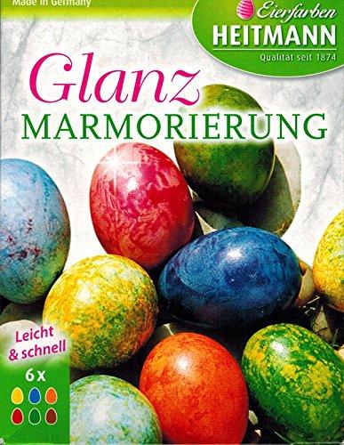 """Ostereier Farben / Eierfarben \""""Glanz Marmorierung\"""" (6 Farben) OSTERN"""