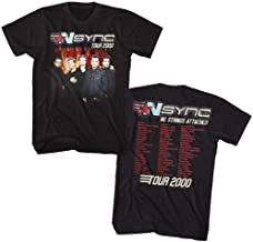 NSYNC 1995 Boy Band No Strings Attached Tour 2000 Front & Back Adult T-Shirt Tee