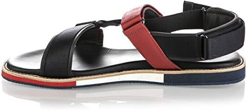 Baldinini 6700 bleu High Tech. Fabric Fabric Fabric Leather Summer Designer Hommes Sandals def