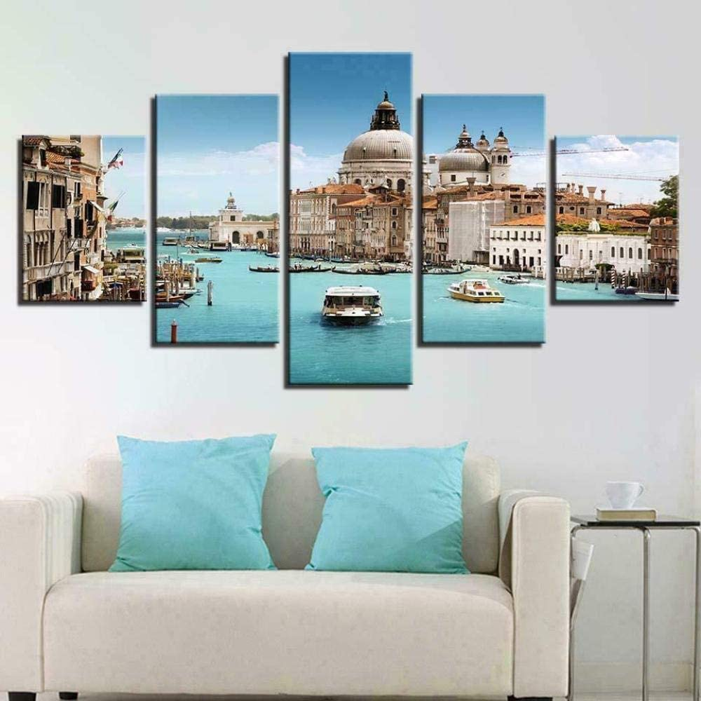 Prints On Canvas 5 Surprise price Pieces Venice Serenissima The Direct store Painting