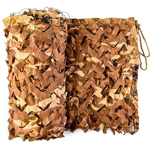 Wilxaw Filet de Camouflage, 3 x 6 M Filet de Ombrage Camouflage Désert Jardin Store Voiture Couverture pour Parasol Décoration Jungle