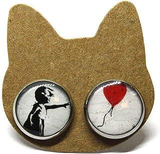 Orecchini Banksy - Orecchini a lobo - Arte - Quadri - Acciaio - Anallergici