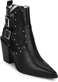 TRUFFLE COLLECTION Women's TRIORA7 Black PU Boots
