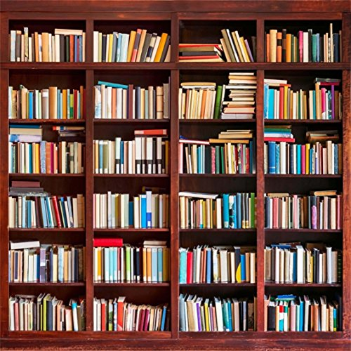 AOFOTO 6x6ft Bookshelf Background Bookcase Photography Backdrop Library Book Store Kid Boy Girl Student Lovers Teenagers Portrait Photoshoot Studio Props Video Drape Seamless Wallpaper