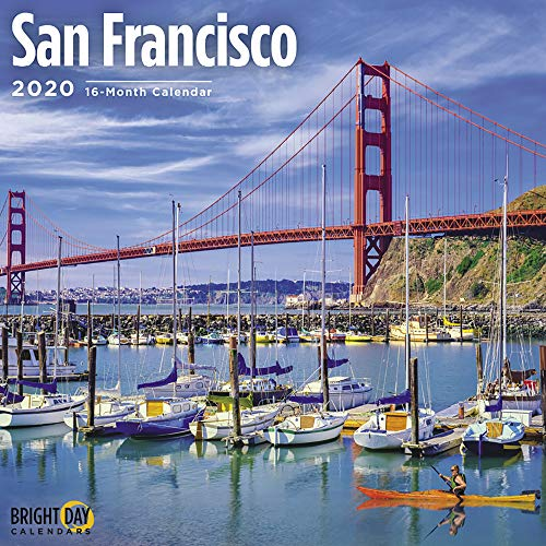 2020 San Francisco Wall Calendar by Bright Day, 16 Month 12 x 12 Inch, California Bay Area Coast Travel USA