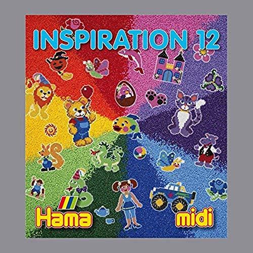 Hama Perlen 399-12 Inspiration Heft Nr. 12 Vorlagenbuch mit farbenfrohen Ideen, Motiven und Anleitungen zum Basteln mit Bügelperlen, kreativer Bastelspaß für Groß und Klein