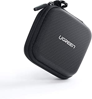 UGREEN Earphone Case Small Headphone Hard Case Carrying Bag Pouch with Mesk Pocket and Double Zipper for AirPods, in-Ear E...