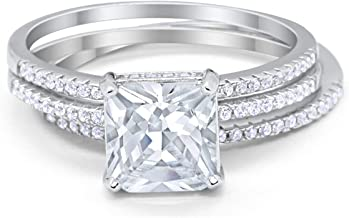 Best cz wedding sets silver Reviews