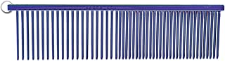 Resco Professional Anti-Static Best Dog, Cat, Pet Grooming Comb, Medium / Coarse Tooth Spacing, 1.5-Inch Pins, Candy Blue