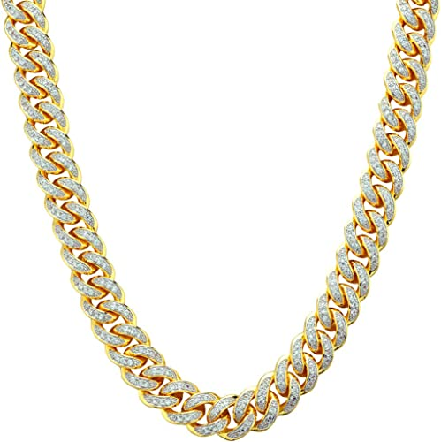 NIV'S BLING – 18k Gold-Plated Cubic Zirconia Cuban Link Chains (18-36 Inches)