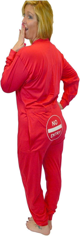 Big Feet Juego de Unión Pijamas con Bum Divertido Flap Sin Entrada