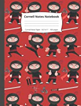 Cornell Notes Notebook: Ninja Gifts   Cornell Note Paper With Kawaii Ninja Pattern   Note Taking and Meeting Notes Noteboo...