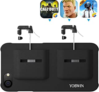 Mobile Game Controller Case for iPhone 8/7 / 6, Phone Cover for PUβG/COD Mobile L1R1 Trigger Joystick Gamepad Grip Remote, for Apple iOS (4.7 inch Black)