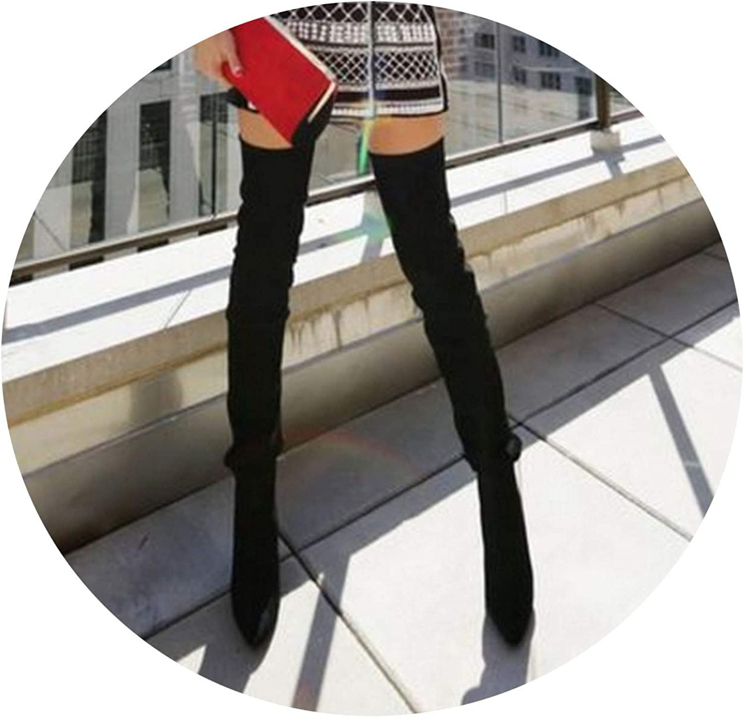 Autumn Winter Women Boots Long Slim Thigh High Boots Over The Knee Boots High Heels shoes Woman
