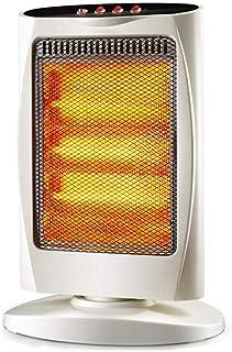 Calentador Calentadores, calefacción vertical silenciosa del radiador del ventilador del hogar - Cuerpo de calefacción de tubo de cuarzo, protección contra volcaduras (blanco)