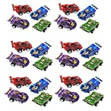 24 Piece 2.5' Party Pack Assorted Pull Back Racing Cars. - Fun Gift Party Giveaway