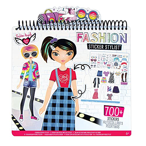 Fashion Angels Sticker Stylist 12544, Fashion Design Sticker by Number Activity Book, For Kids 6 and Up