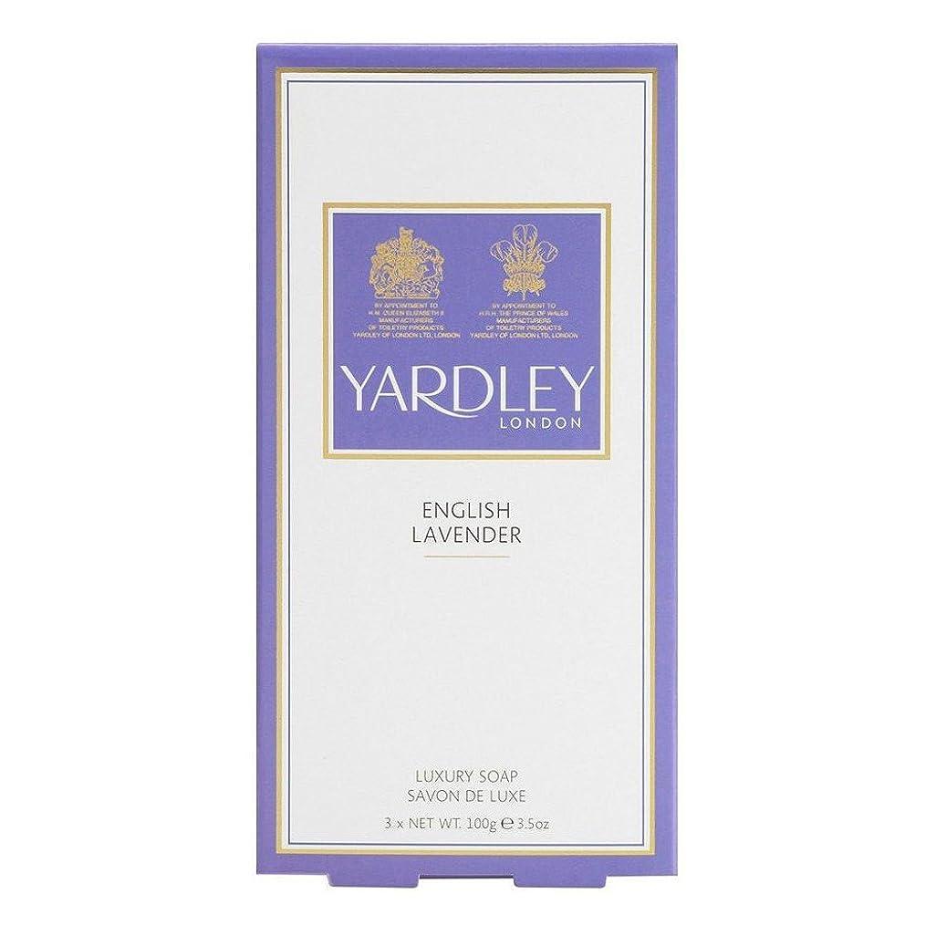 没頭する最も早い形Yardley London English Lavender Soaps (3x100g) ヤードリーロンドン英語ラベンダー石鹸( 3X100G ) [並行輸入品]