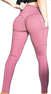 FITTOO Women Scrunch Butt Pocket Yoga Pants Sport Workout Leggings Trousers Tight