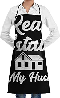 YHLSWLP Real Estate is My Hustle Adjustable Neck Cooking Apron - 20