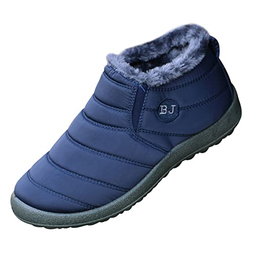 Dear Time Women Winter Snow Ankle Boots Fur Lining Waterproof Outdoor Slip On Booties Sneakers