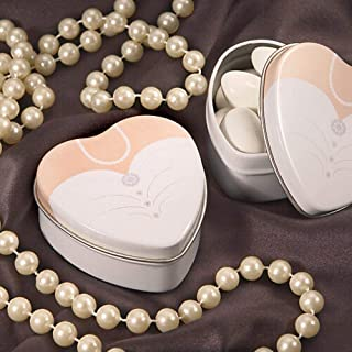 Dressed to The Nines Heart Shaped Bride Mint Tins Wedding Favors Party Supplies tokolitearom