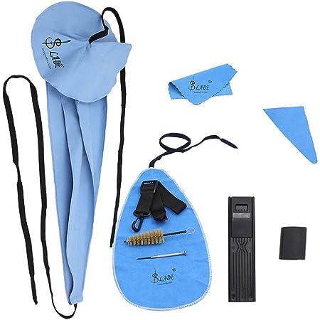 ammoon Lade10 en 1 kit de cuidado de limpieza para saxofón cinturón apoyo pulgar cojín funda boquilla cepillo mini destornillador paño de limpieza