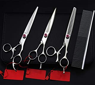 4 Kit Rotation 7.5 Inch Pet Dog Grooming Hair Scissors Cutting Shears Thinning Barber Hairdressing Scissors Set
