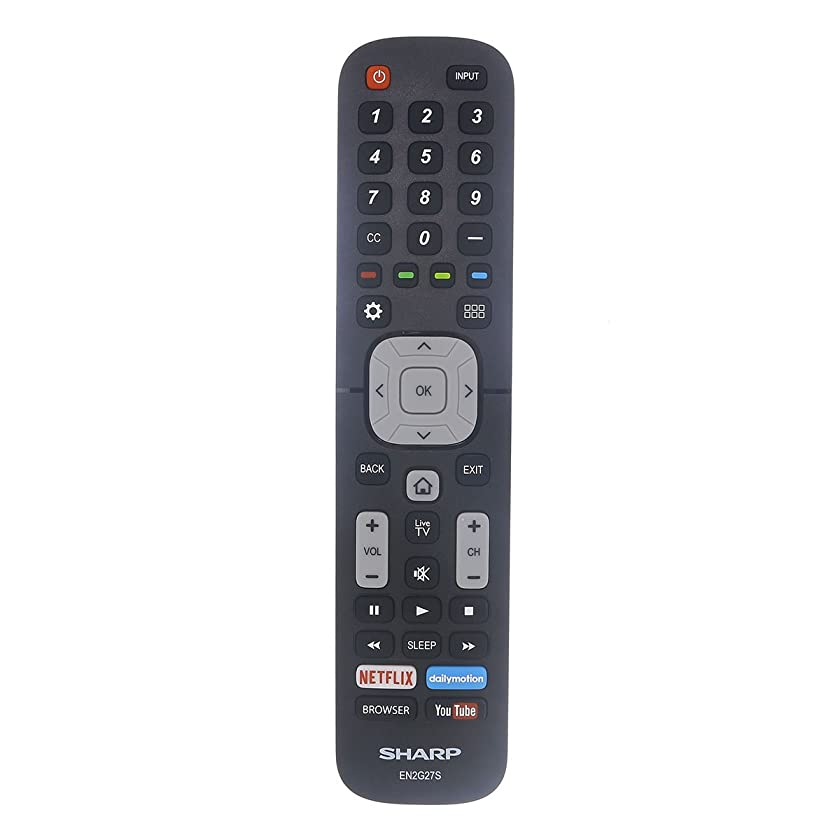 Original Sharp EN2G27S TV Remote Control with Netflix, YouTube, and Browser Buttons