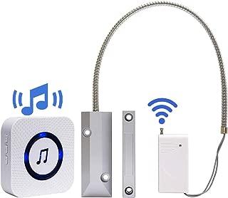 Wireless Door Open Chime Overhead Door Contact Sensor Magnetic Door Chimes When Door Opens for Garage Door/Home/Business/Retail/Warehouse
