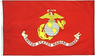 Annin Flagmakers Model 3418 U.S. Marine Corps Military Flag 70% Polyester/30% Cotton, 3x5 ft, 100% Made in USA Specifications. Officially Licensed