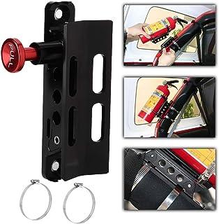 消火器、6.5x5.4x2in 消火器ホルダー ロールバー消火器マウント、自動車用調節可能な消火器マウント