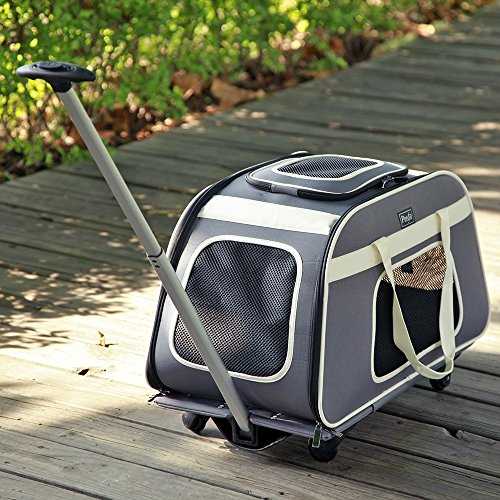 Petsfit Rolling Pet Carrier for Pets up to 28 Pounds, Not Airline Approved
