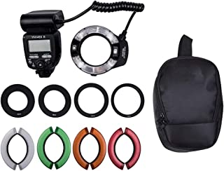 QYRL Speedlite Flash with Hard Diffuser,12 Color Filters Kit for Canon 7D Mark II//5D Mark II III//IV//1300D//1200D